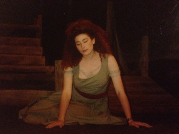 "ME AT 16 IN THE GHP THEATRE PROJECT ""UNDER MILK WOOD."""